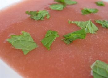 rhubarb soup
